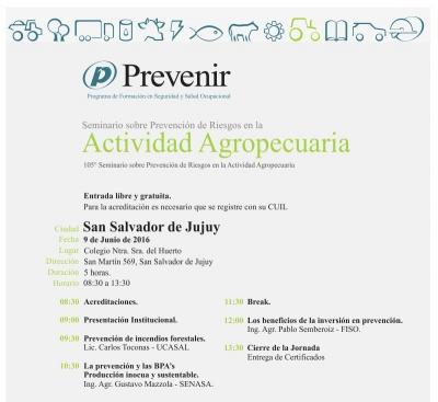 105º Seminario sobre Prevención de Riesgos en la Actividad Agropecuaria